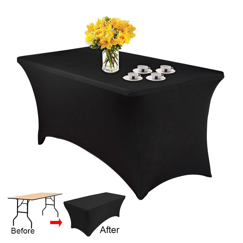 10PCS Spandex Stretch Tablecloth Folding Table Cover Rectangular
