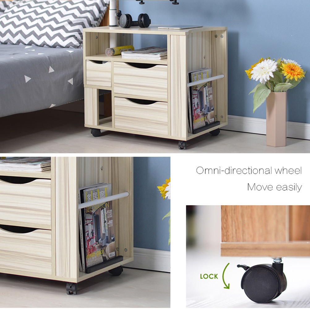 Wooden Lift Top Laptop End Table Bedside Night Stand