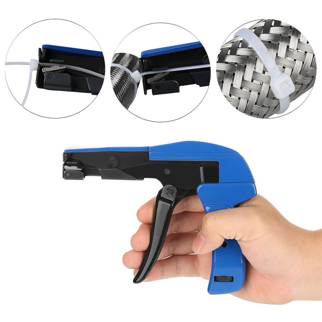 2.4-9mm Heavy Duty Cable Zip Tie Tool Automatic Tension Quick off Gun Too S4Q9
