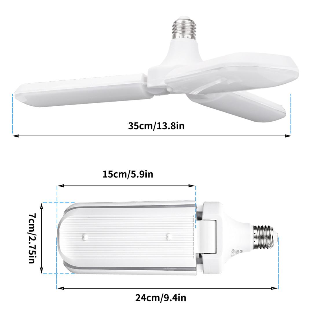 45w E27 Led Universal Foldable Three Leaf Fan Blade
