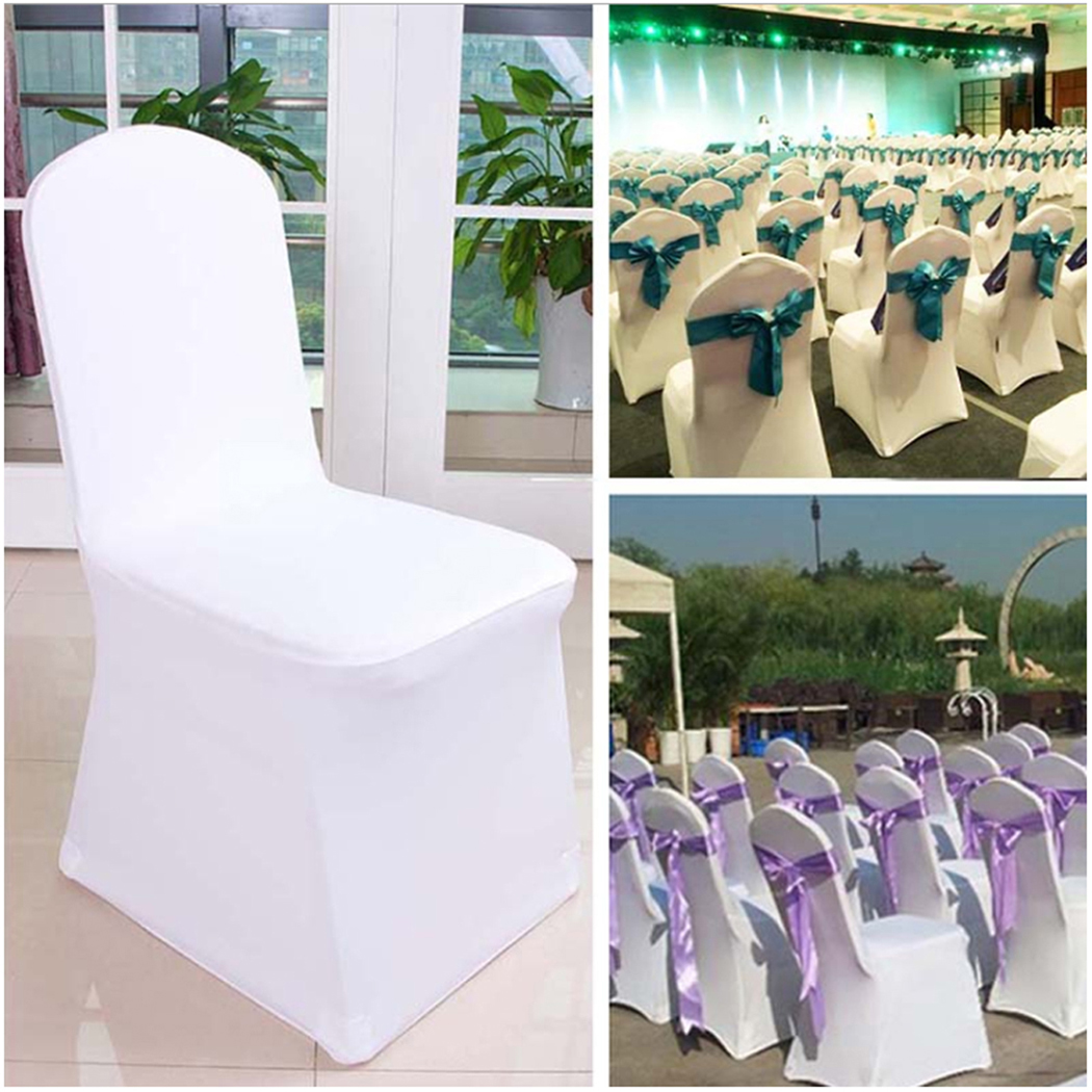Prime Details About 100 50 White Covers Spandex Lycra Chair Cover Wedding Banquet Party Arched Front Ibusinesslaw Wood Chair Design Ideas Ibusinesslaworg