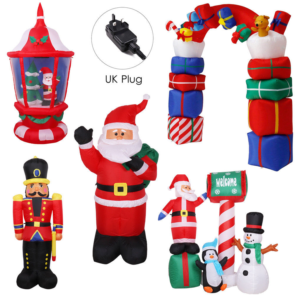 Electric Airblow Inflatable Christmas Santa Claus Xmas Tree Family ...