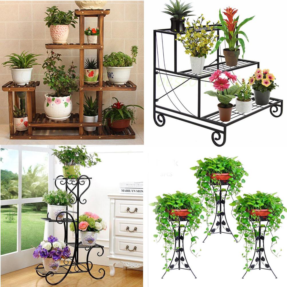 5 Designs Flower Pot Plant Stand Planter Rack Shelf