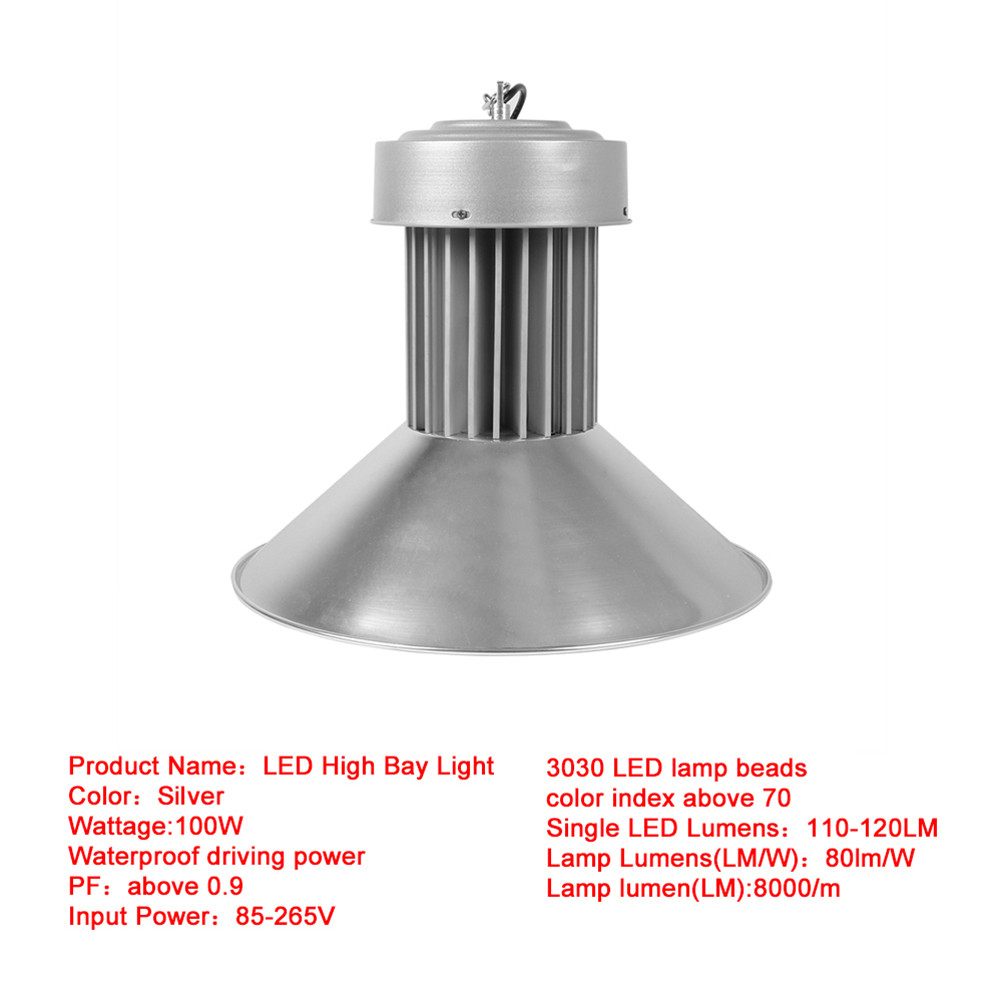 Indoor Factory Warehouse Light Led High Bay Light 60w High: LED High Bay Warehouse Light Bright White Fixture Factory