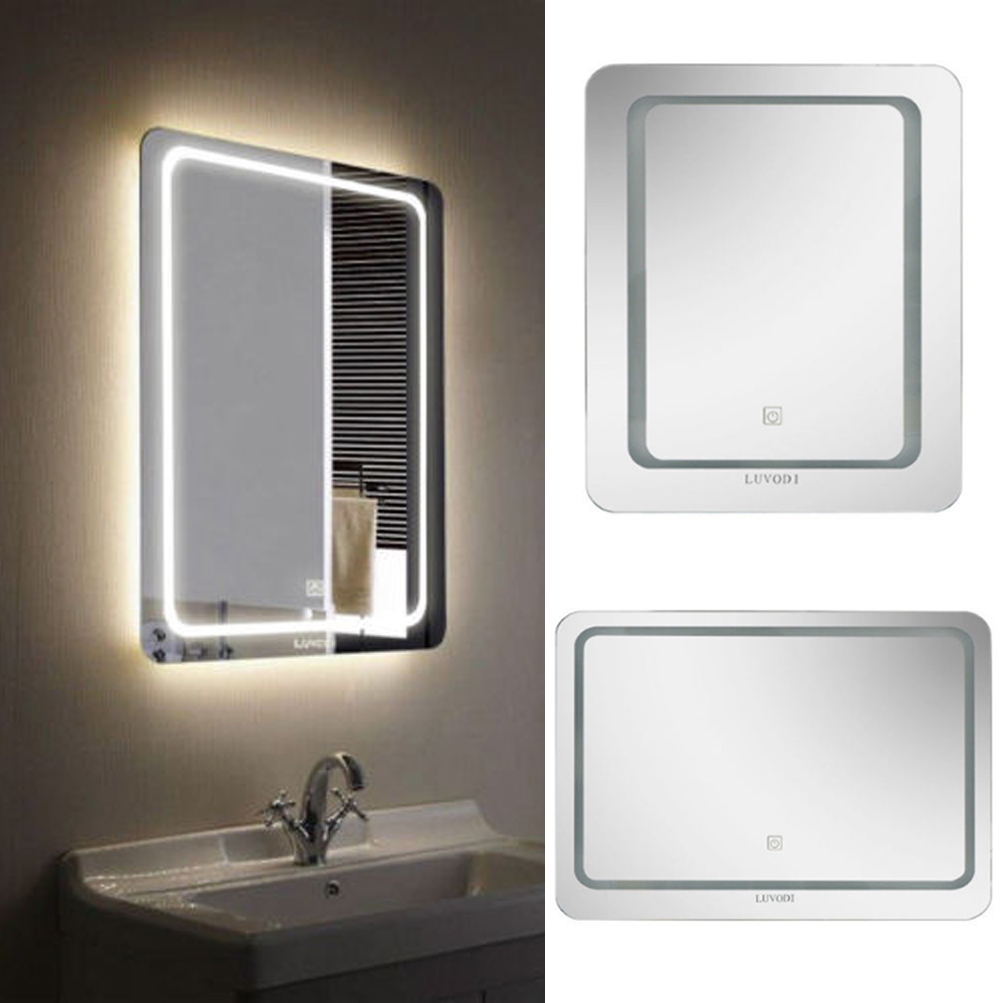 Fogless Led Bathroom Lighted Vanity Wall Mirror For Makeup W Dimmer