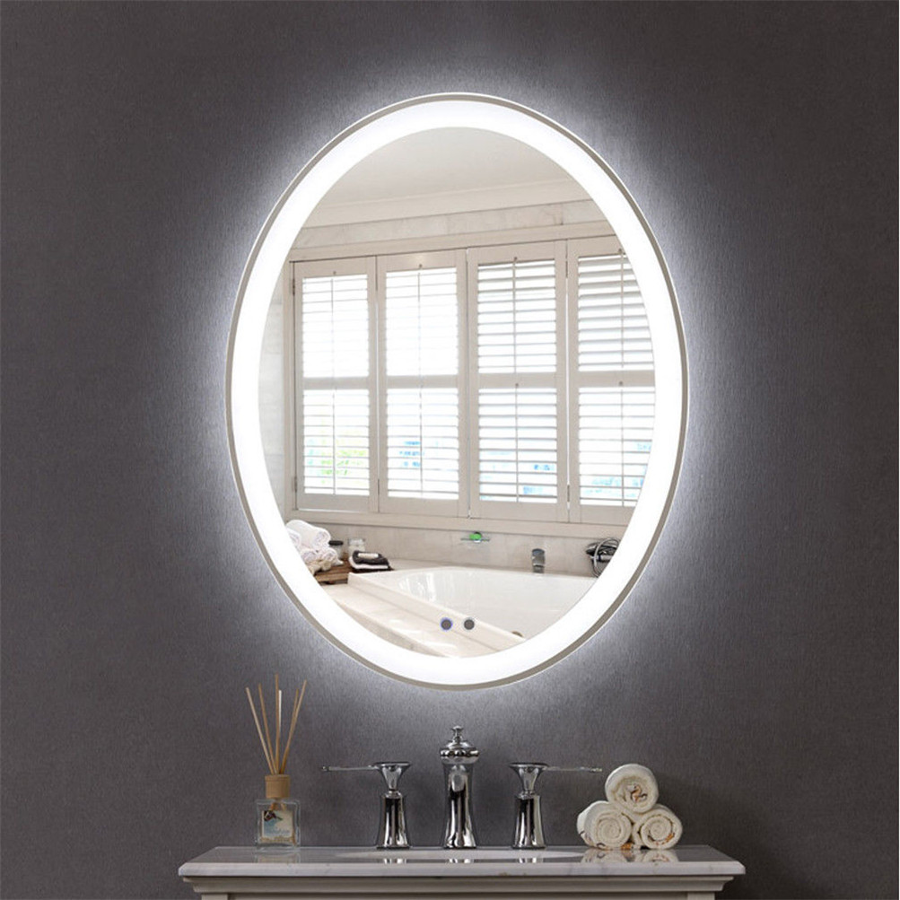 Oval Led Bathroom Wall Mount Mirror Illuminated Light