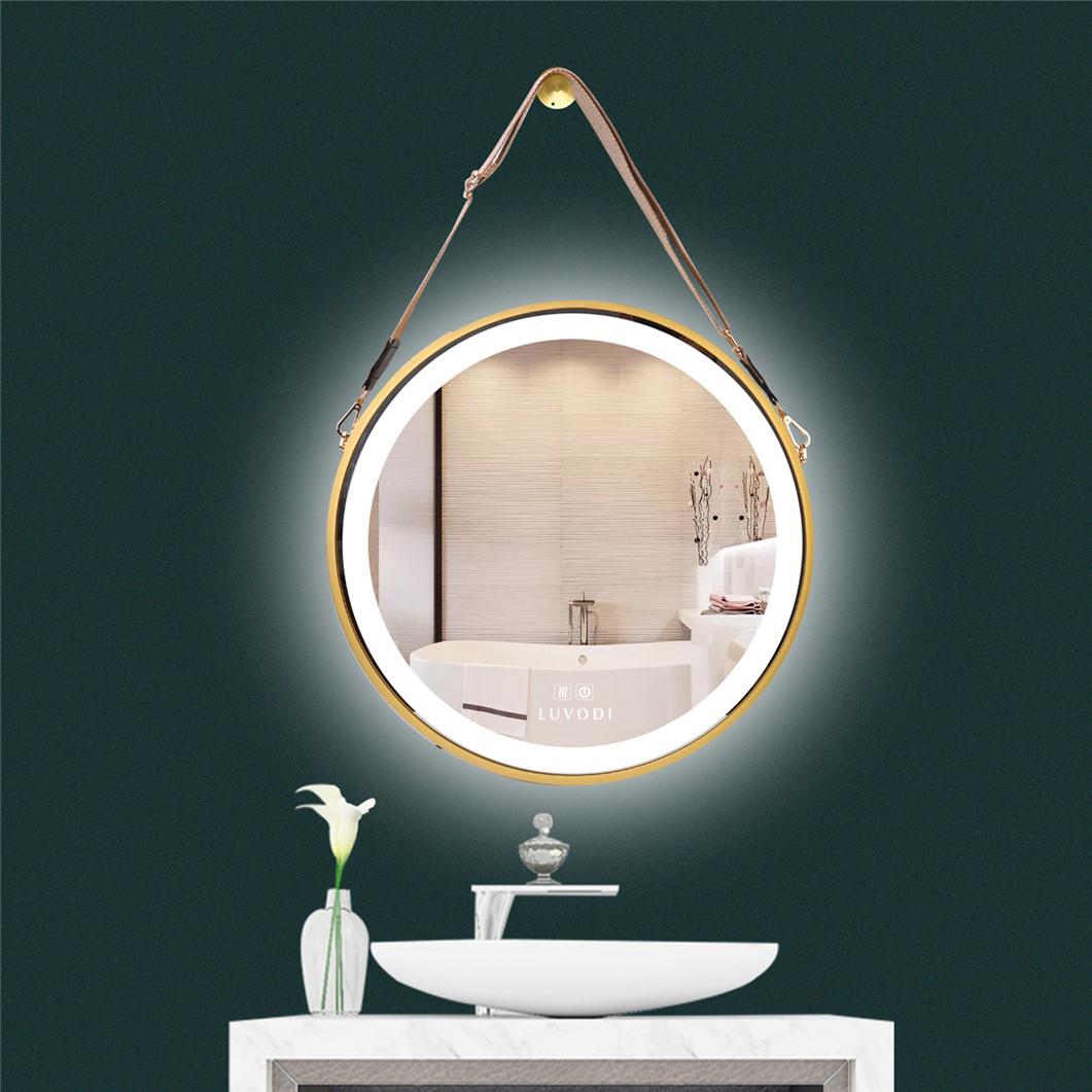20 Vintage Round Led Wall Mount Hanging Mirror Sensor Switch F Bathroom Vanity Ebay