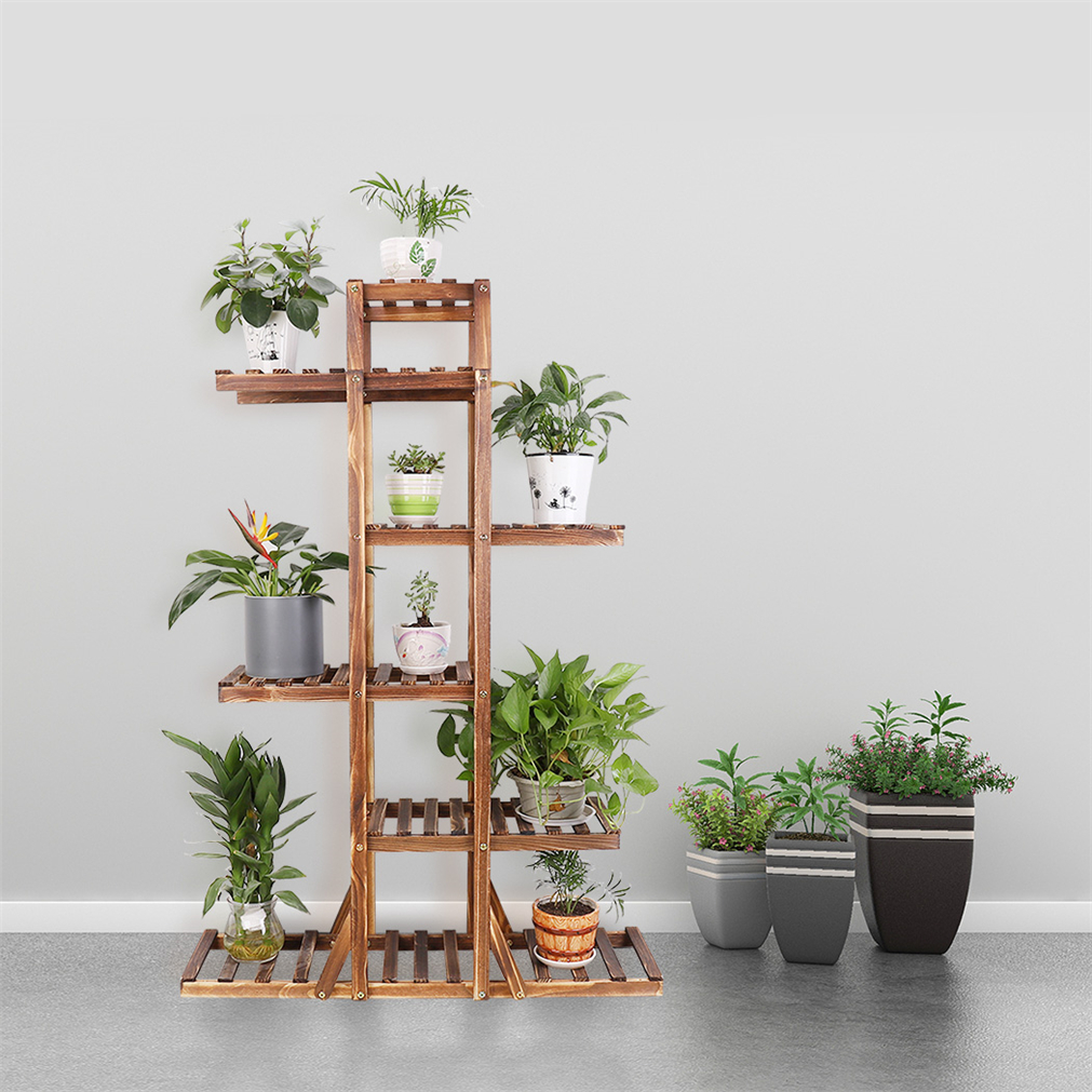 6T Tall Multiple Wood Plant Stand Indoor Outdoor Vertical