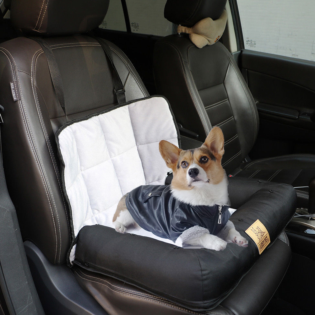 Pet Booster Seat >> Dog Cat Car Seat Carrier Waterproof Nonslip Pet Booster Seat With