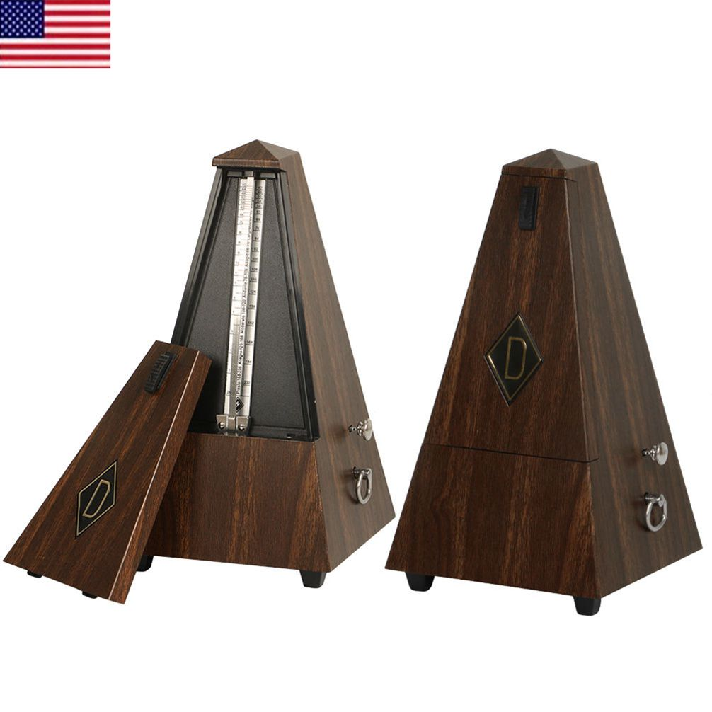 wood plastic vintage antique metronome mechanical musical timer for guitar piano 7625730911810. Black Bedroom Furniture Sets. Home Design Ideas