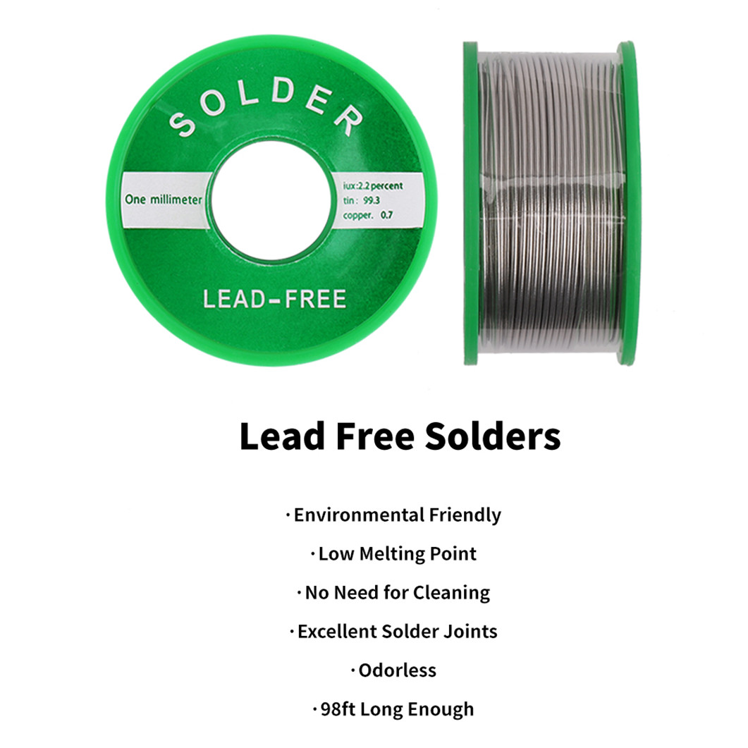 Lead Free Rosin Core Flux 1mm Diameter Welding Soldering Solder Wire 100g 98ft