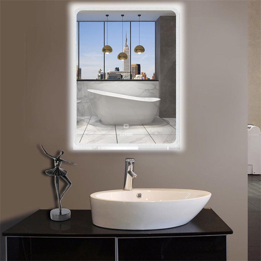 frameless bathroom vanity mirror residential 11 design large frameless wall mount bathroom vanity mirror anti fog glass panel