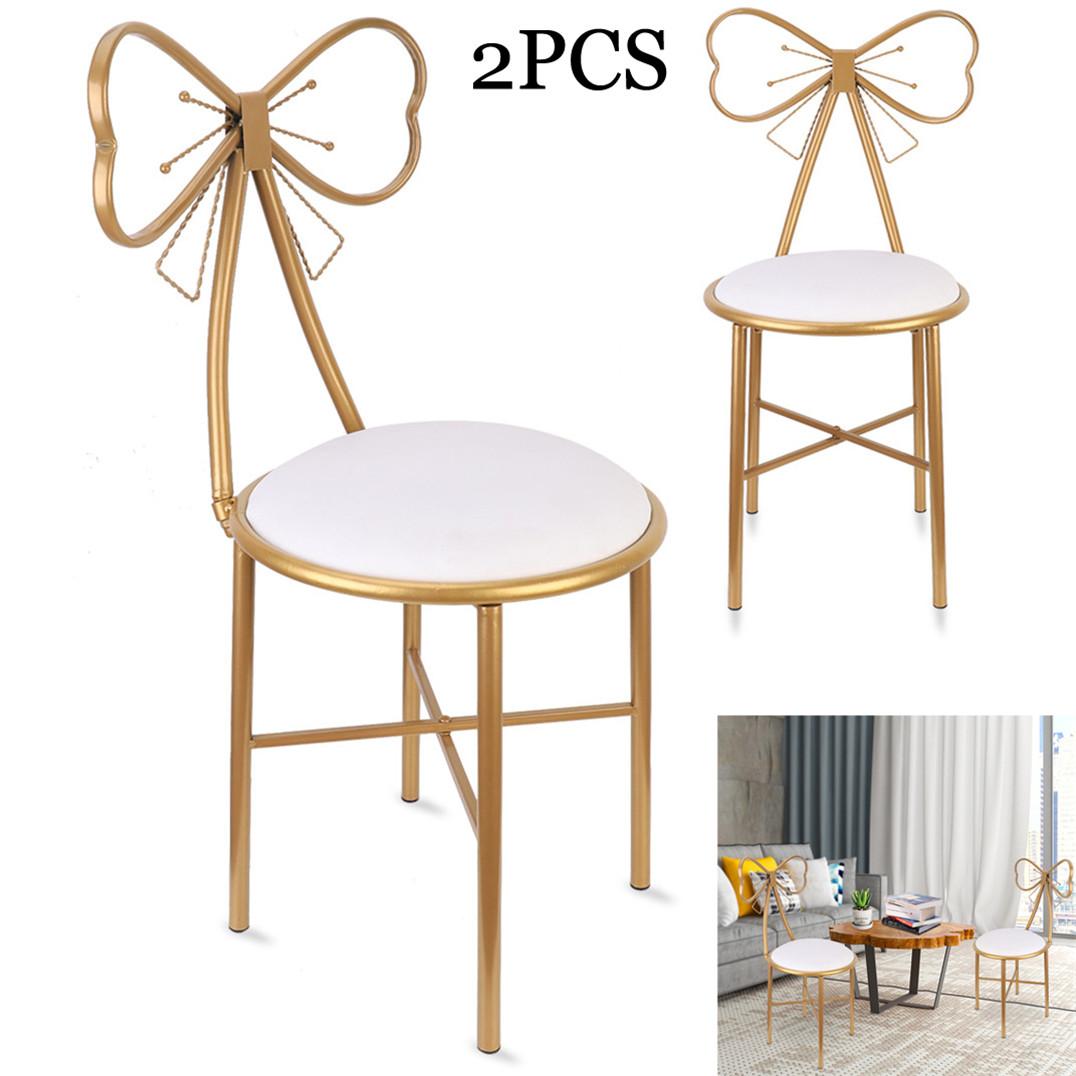 31 Modern Minimalist Bow Red Makeup Vanity Stool Backrest Chair Bedroom Nordic Ebay