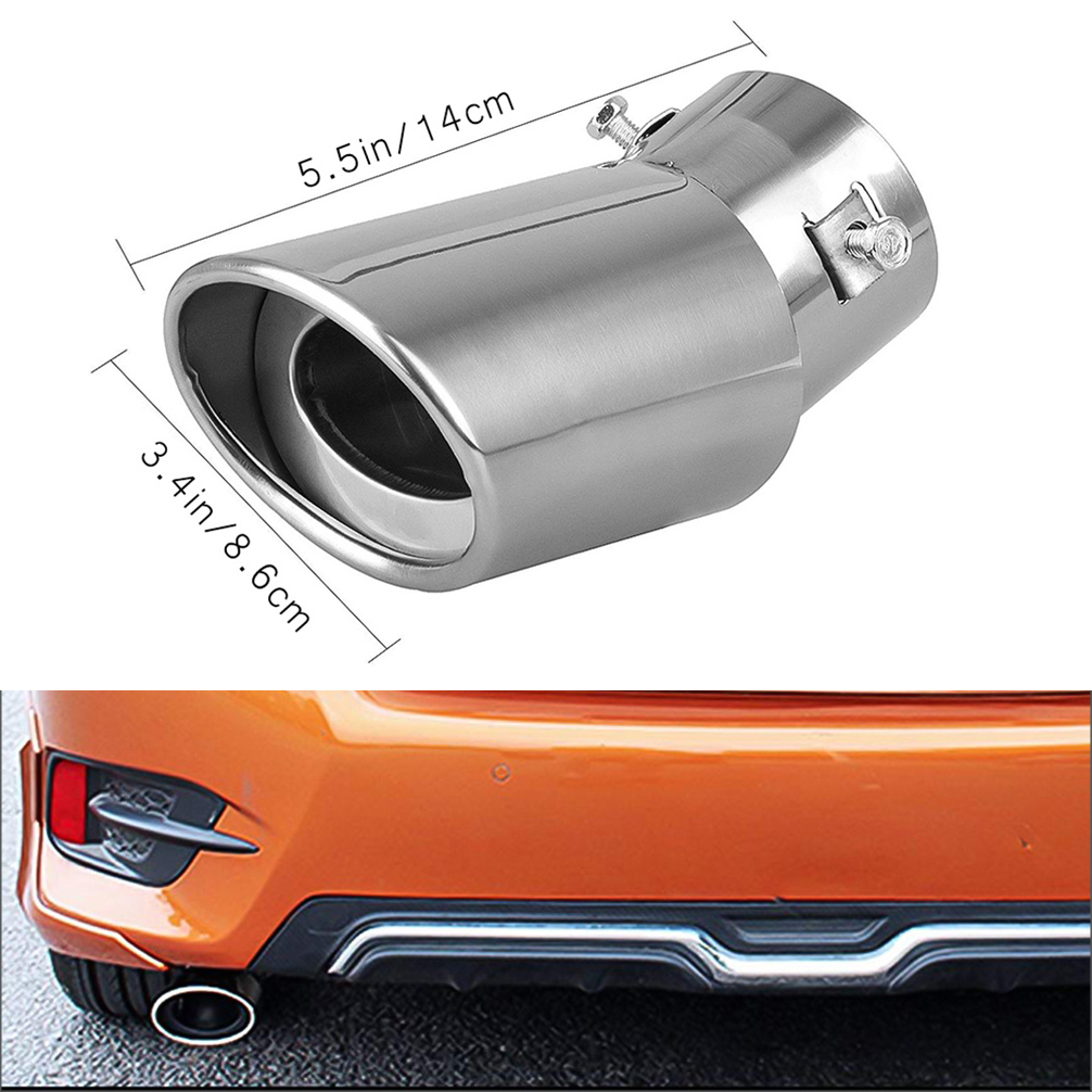 Car Round Exhaust Pipe Tip Tail Muffler cover styling Stainless steel For Ford