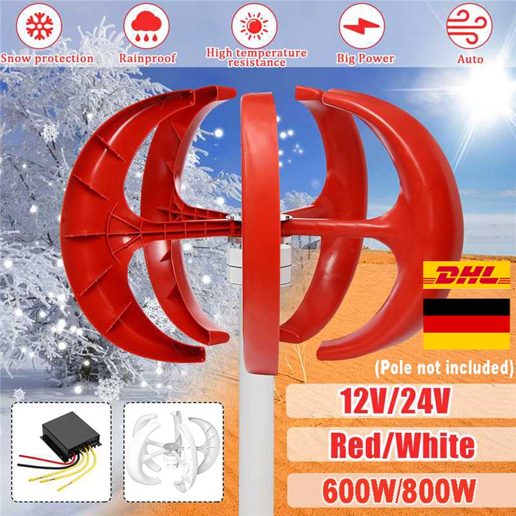 AC 24V 5 Blades Wind Turbine Generator Windenergie Windgenerator 400W Laderegler