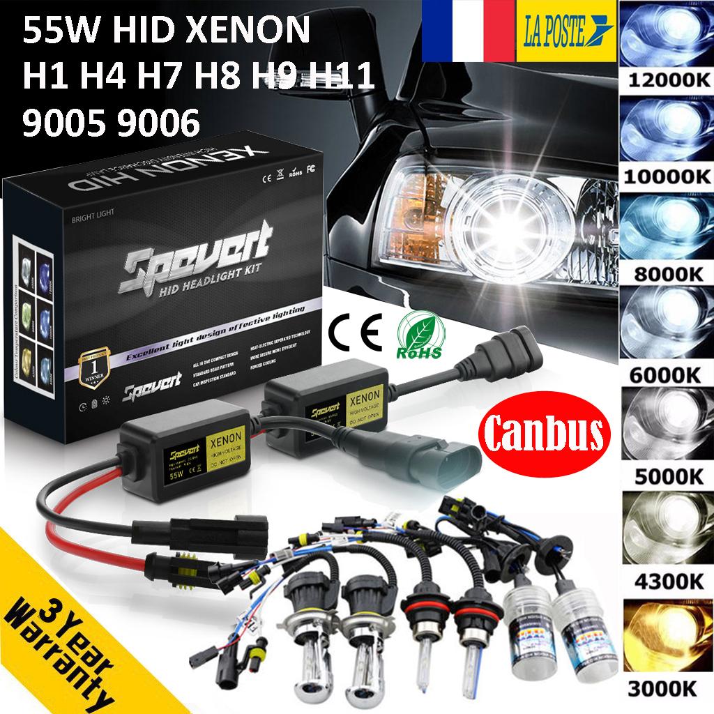 Paire Ampoules H11 55W Xenon HID H8 H9 H11 6000K pour voiture Kit X/énon de conversion HID