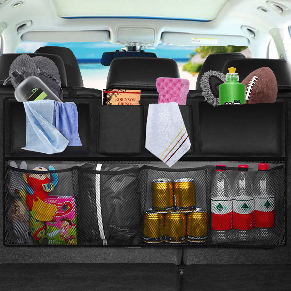 All in One Mesh Pocket Hanging Boot Car Back Seat Tidy Storage Organiser Durable