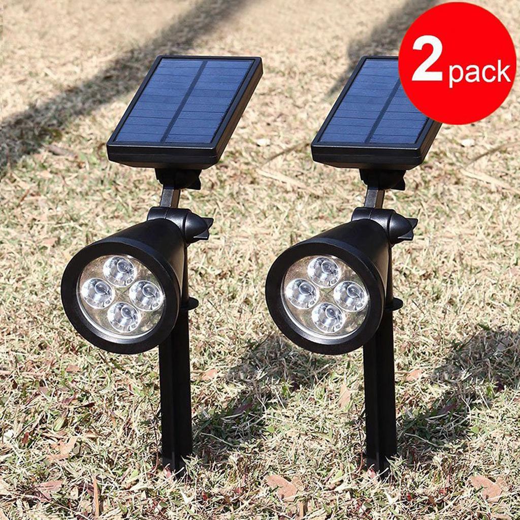 LED Solar Powered Mount Spotlight Outdoor Spot Light