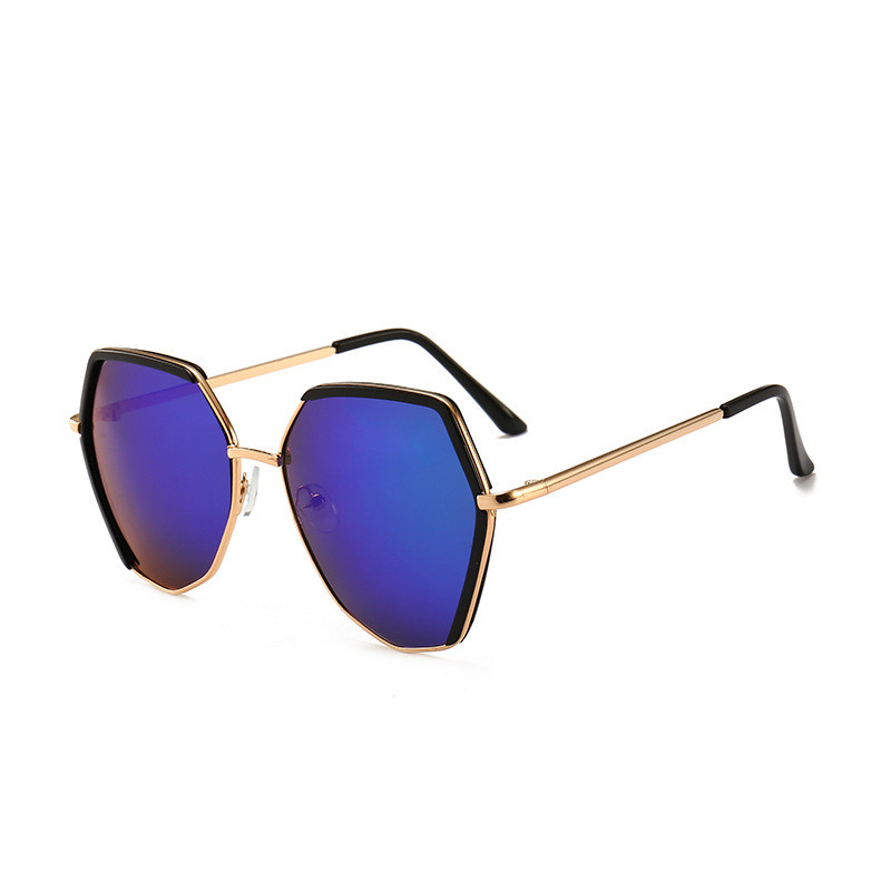 Oversized Geometric Polygon Sunglasses Irregular Eyeglasses Shades Unisex Glass