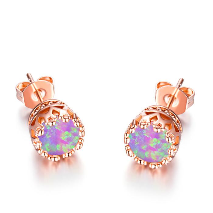 Pretty Sweet 18kt Rose Gold Stud Earrings Women