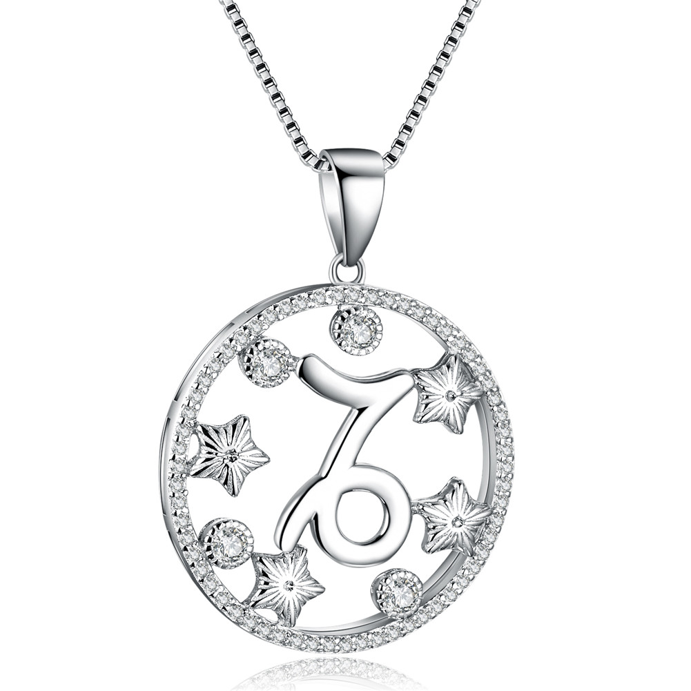 Capricorn 925 sterling silver chain pendant necklace womens capricorn 925 sterling silver chain pendant necklace womens aloadofball Choice Image
