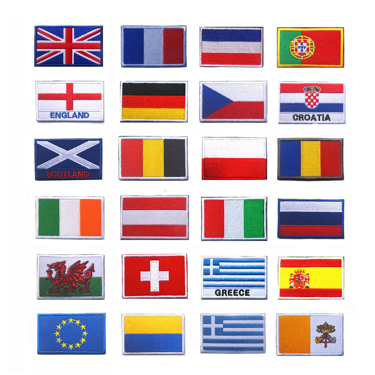 #2753IR National Nation World Country Emblem Flag Embroidered Sew On Patch Badge