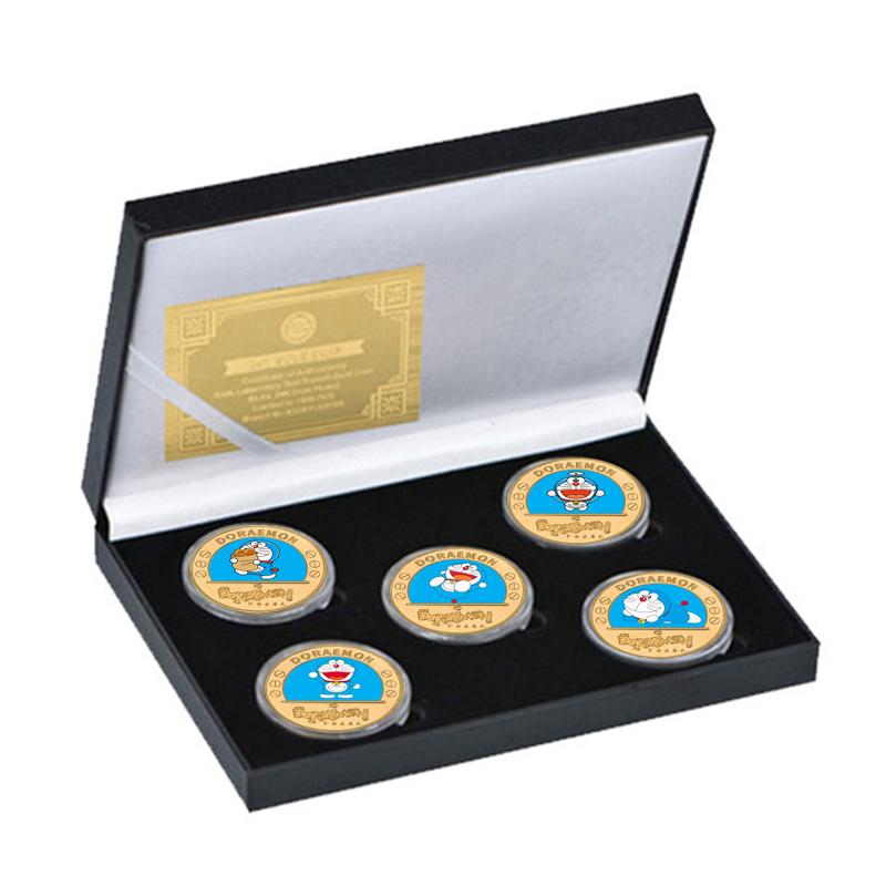 5type Japanese Anime Doraemon Card Cute Cat Magic Gold Banknote Christmas gift