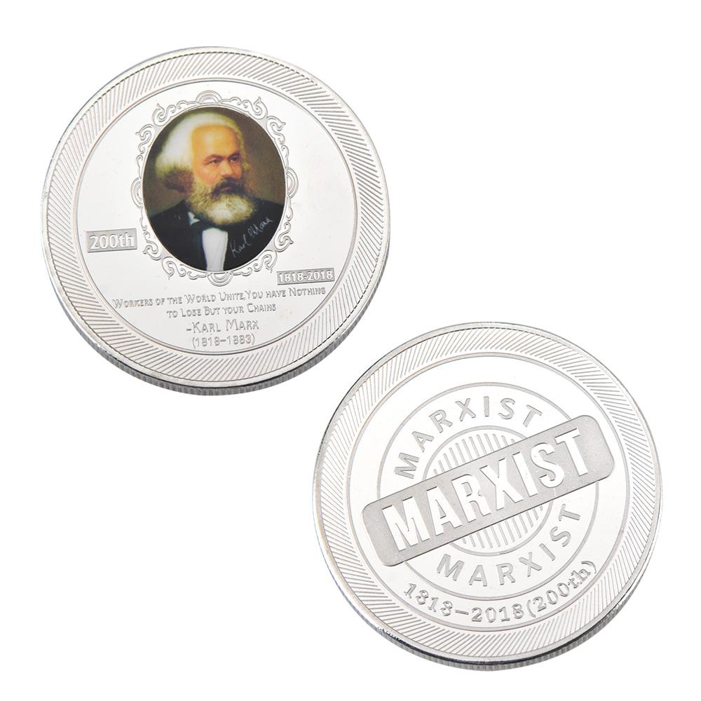 Wr 2018 Karl Marx Silber Gedenkmünze Medaille 200 Geburtstag