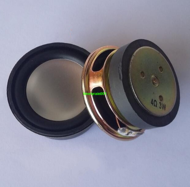 "2pcs 2""inch 52mm 4ohm 4Ω 3W Round full-range speakers Loudspeaker Rubber edge"