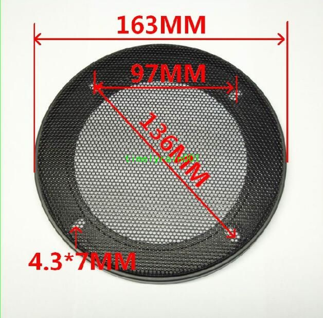 "6.5/""inch 185mm Matt type Circle Speaker decorative circle protective grille"