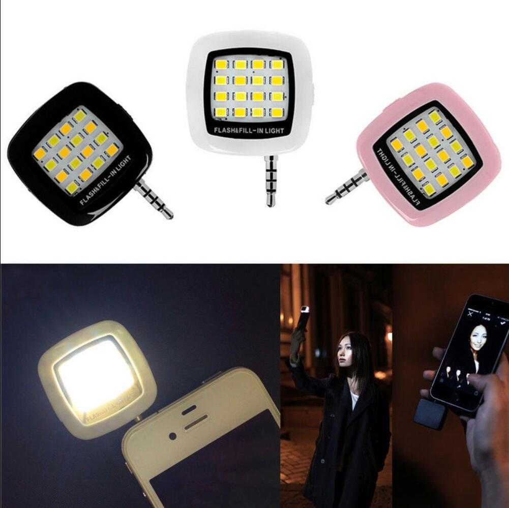 Mobile Phone Accessories Phone Flash Portable Phone Selfie Mini 16 Led Flash Fill Light For Smartphone Cell Phone Adapter Accessories Making Things Convenient For Customers Mobile Phone Adapters