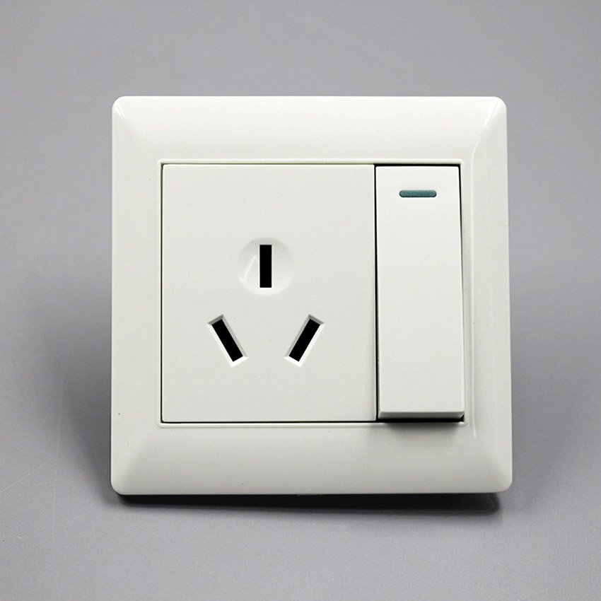 16A 3Pin Power Wall Outlet Socket Plate Panel Slot With Switch AU ...