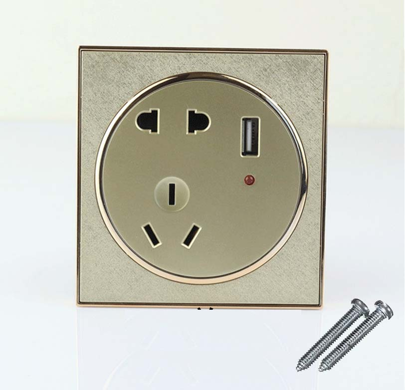 Details About Gold Usb Port Wall Socket Charger Receptacle Outlet Plate Panel Au Eu Us