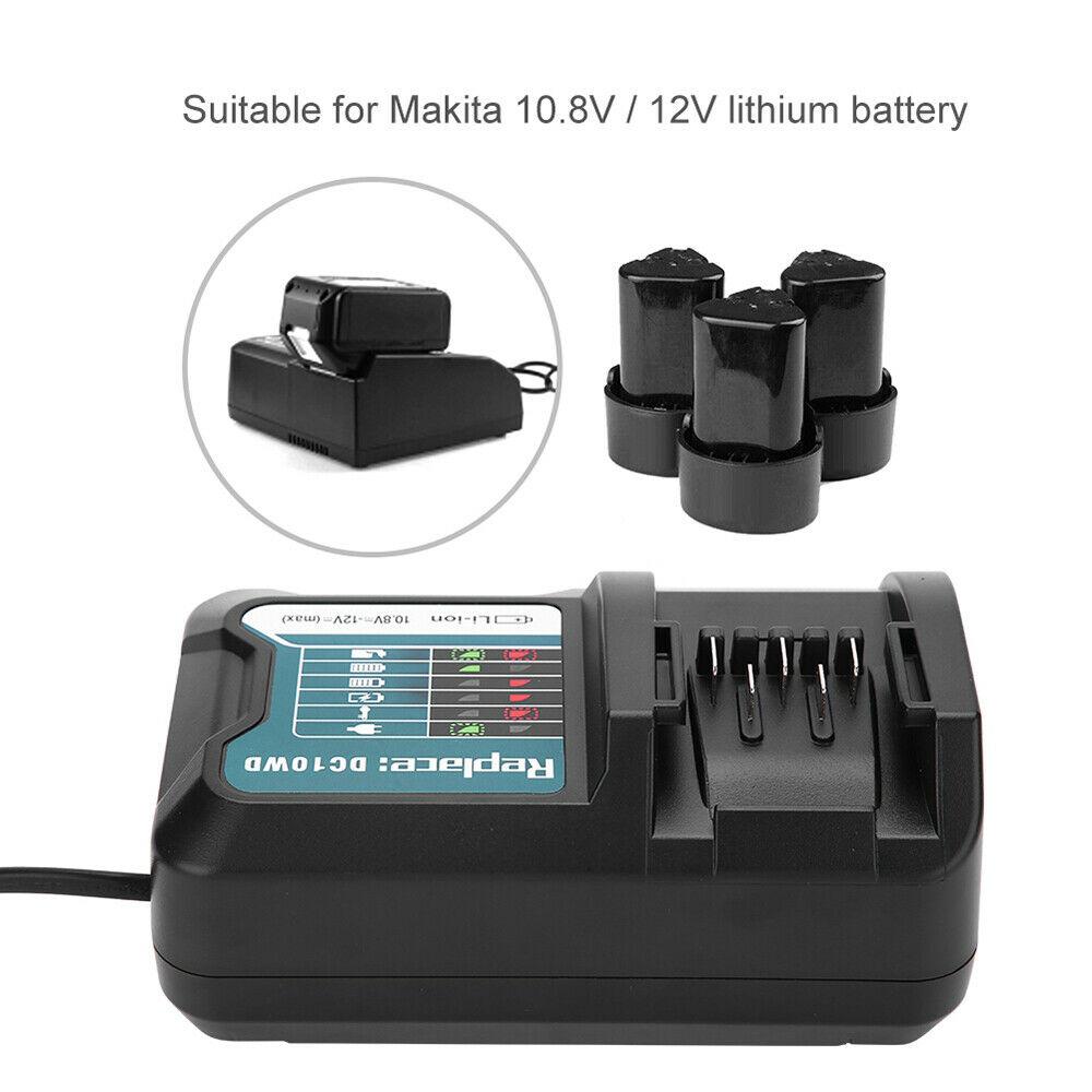Akku Ladegerät Ladestation 10,8V-12V Li-Ion ersetzt Makita BL1021B BL1041B