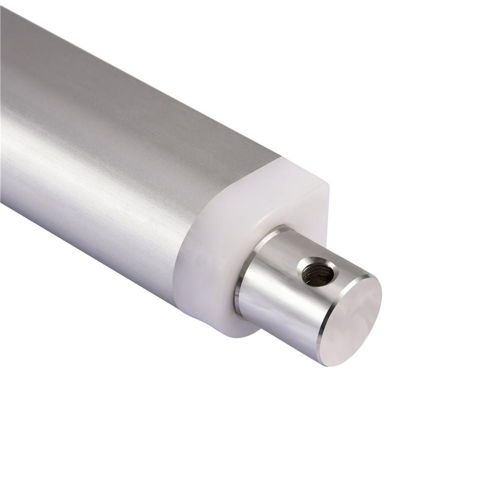 8 Inch Silver Linear Actuator Stroke 225 Pound Max Lift