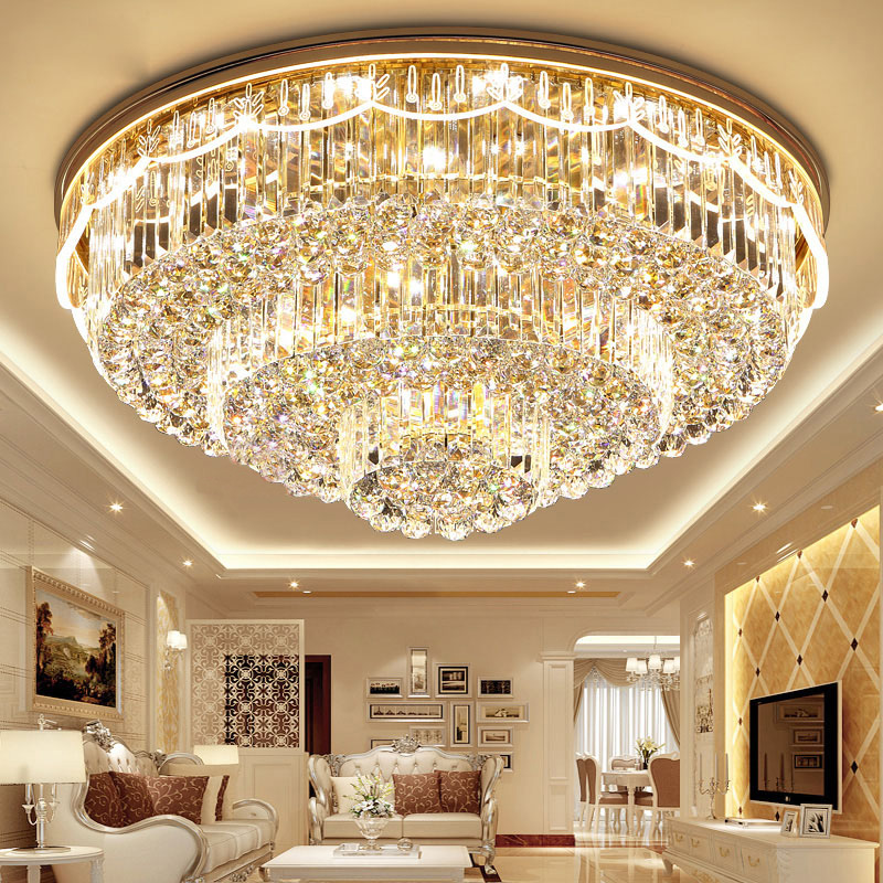 Details About Modern Fashion K9 Crystal Ceiling Lamps Led Chandeliers Lighting Fixture 6001