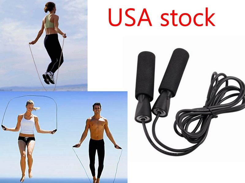 Jump Rope Aerobic Exercise Boxing Skipping Rope Adjustable Bearing Speed Fitness Training Blue
