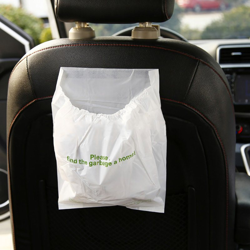 Car Garbage Bag Disposable Auto Trash Biodegradable Paste For Litter Large Capacity Leak Proof