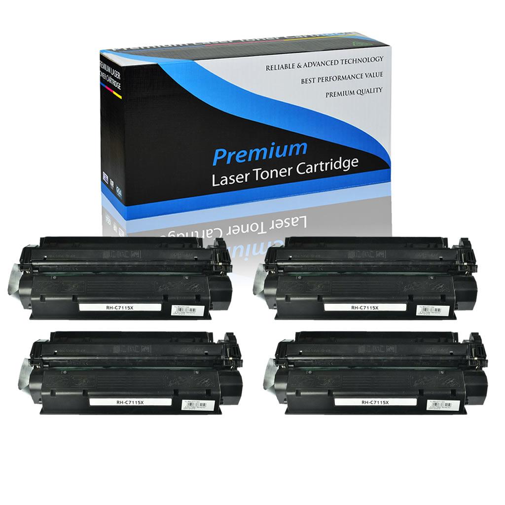 8-Pack Laser Printer Cartridge use for HP Laserjet Pro 1000 1005 1200 1200n 1200se 1220 Printer C7115X Compatible High Yield Color Printer Toner Replacement for HP 15X Black
