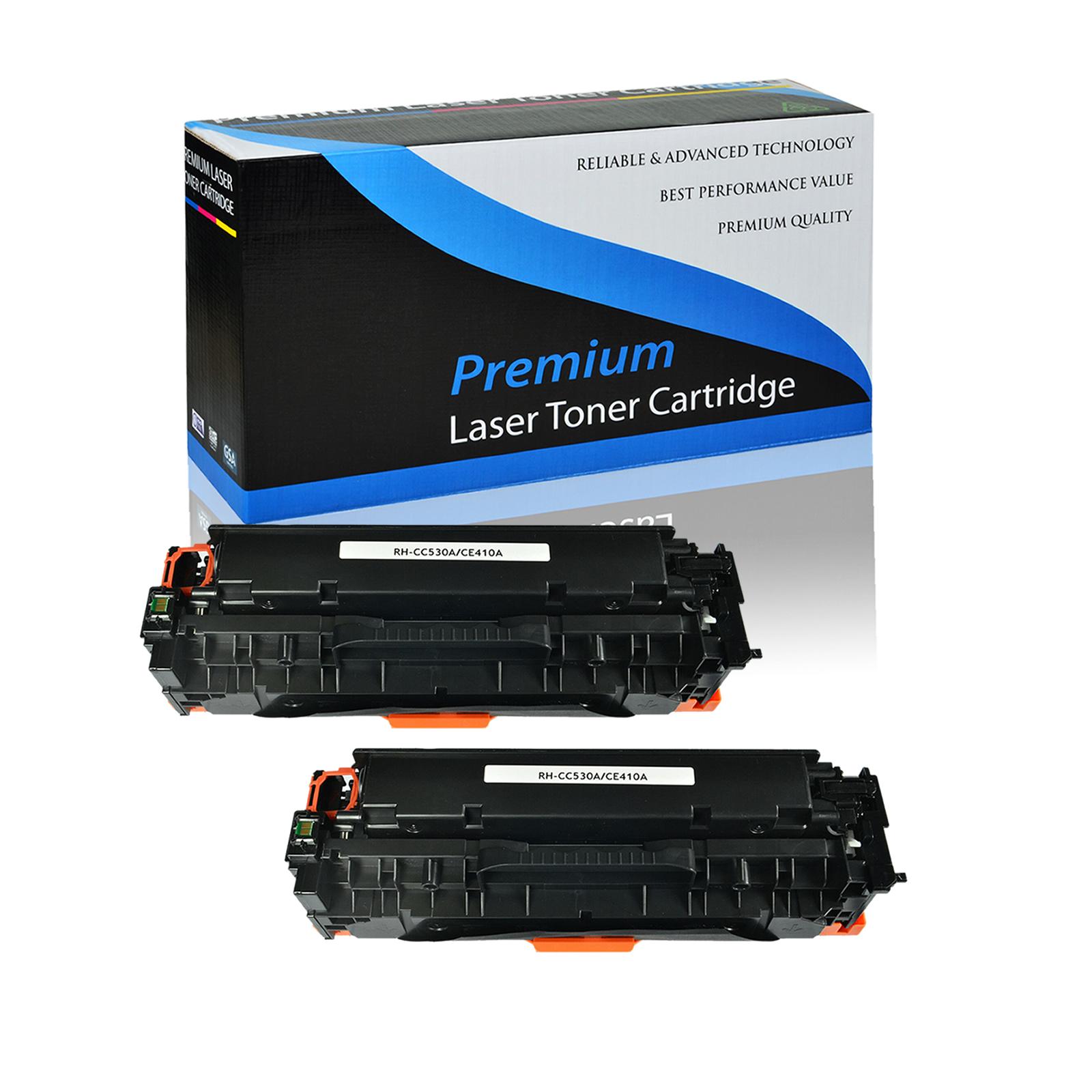 2PK CE410A Black Toner 305A LJ Enterprise 400 color M451dw M475dn M475dw For HP
