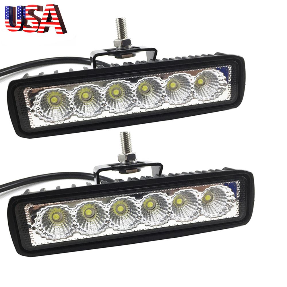 "6/"" Inch 18W LED Work Light Bar Spot Beam Offroad Driving Fog 4WD Lamp UTE SUV"