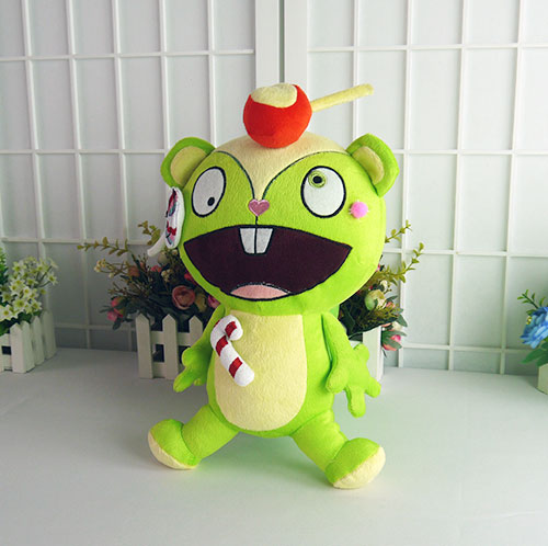 38CM Hot Anime Happy Tree Friends Nutty Stuffed Doll Throw Pillow Plush Soft Toy