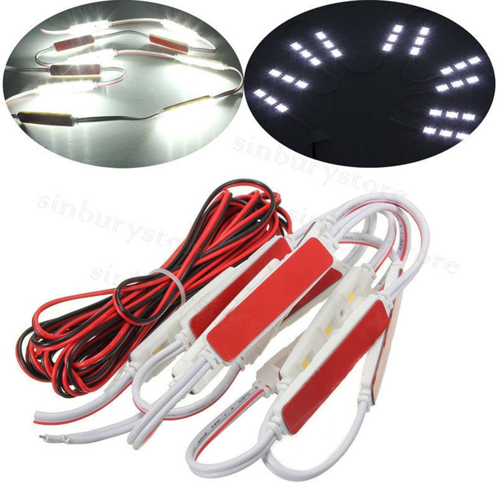 10 led module auto innenraumbeleuchtung innenraum beleuchtung streifen licht de ebay. Black Bedroom Furniture Sets. Home Design Ideas