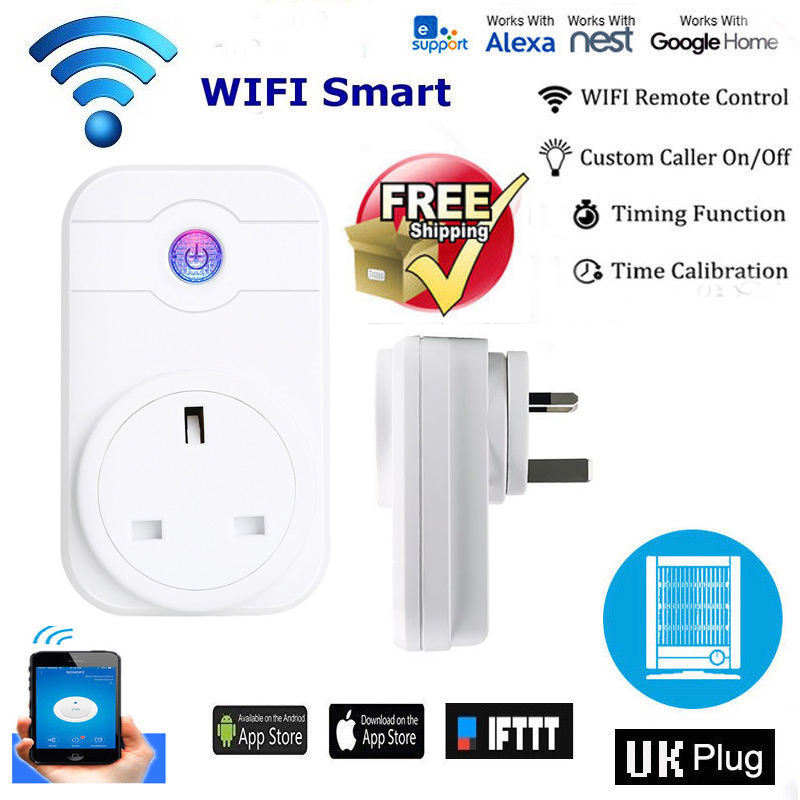 Details about Wireless Smart UK Plug Timer Socket Alexa App Voice Remote  Control Power Switch