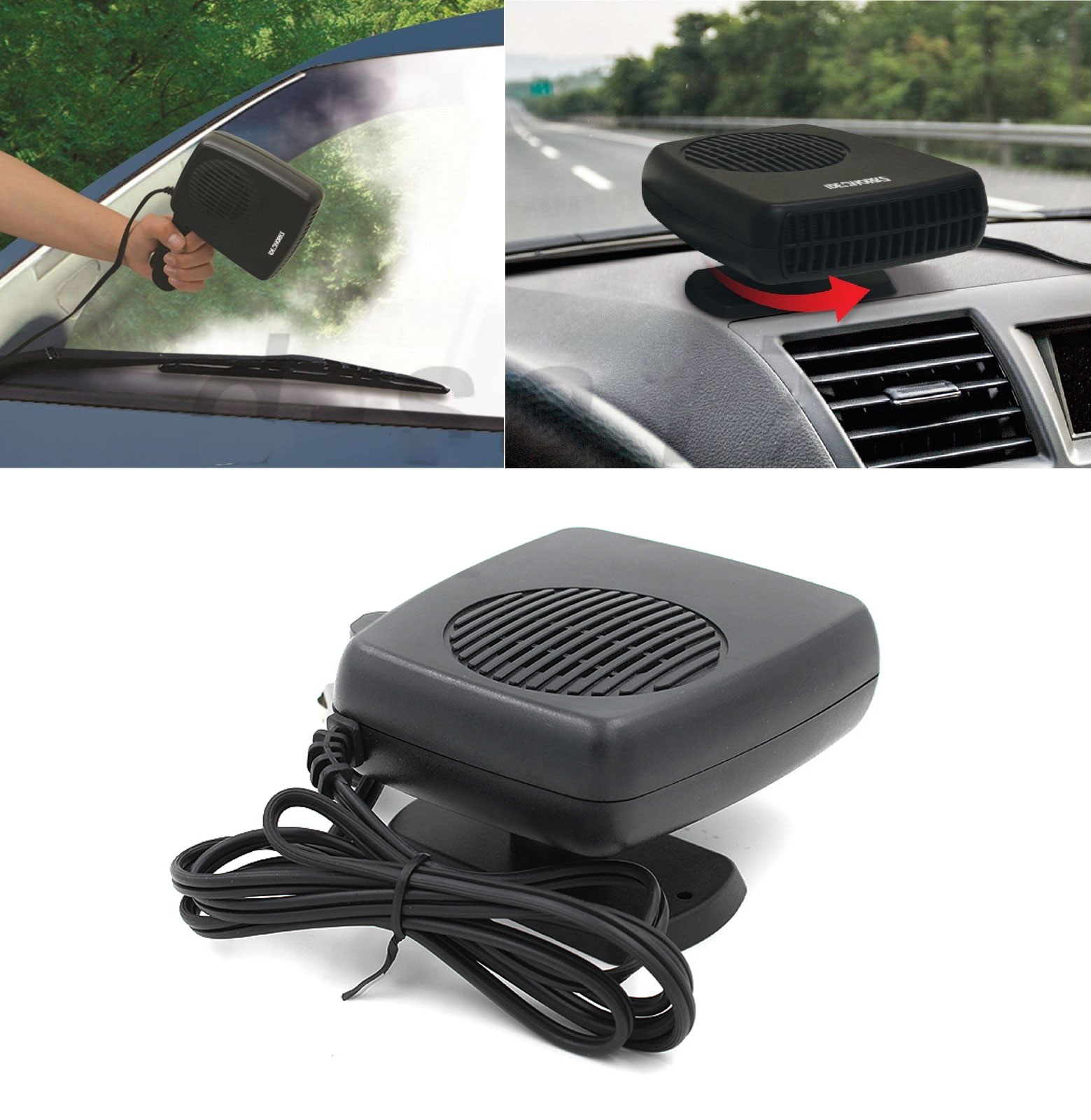 Details About 2 In 1 Portable Car Auto Fan Heater Cooler Plugin Demister Defroster 12v 200w Fd