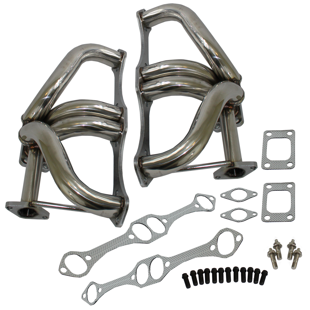 T3 T4 Turbo Exhaust Header Manifold For 66-96 GM SBC Chevy