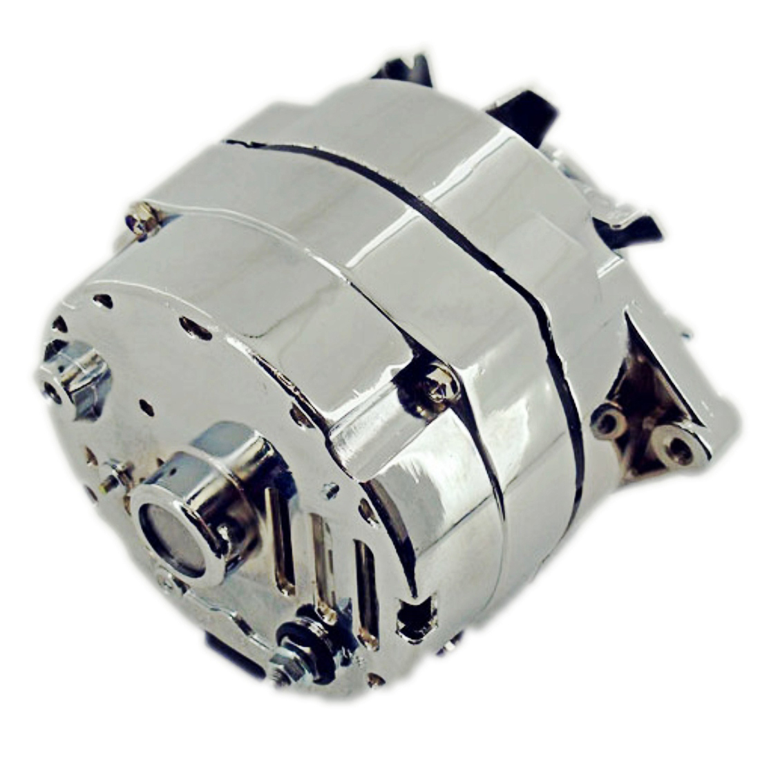 For Chevy SBC 350 120 Amp 1 Wire/ 3 Wire Alternator & LWP Aluminum ...
