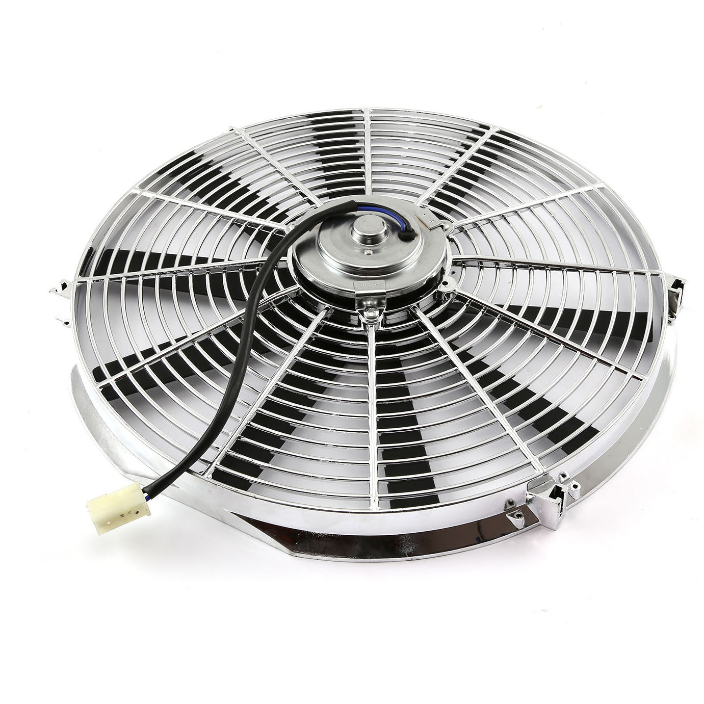 16 U0026quot  Electric Radiator Chrome Cooling Fan Straight Blade