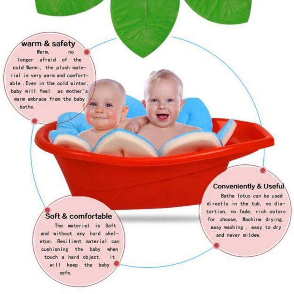 Blooming Bath Flower Bath Tub Mat Baby Blooming Sink Baby Infant ...