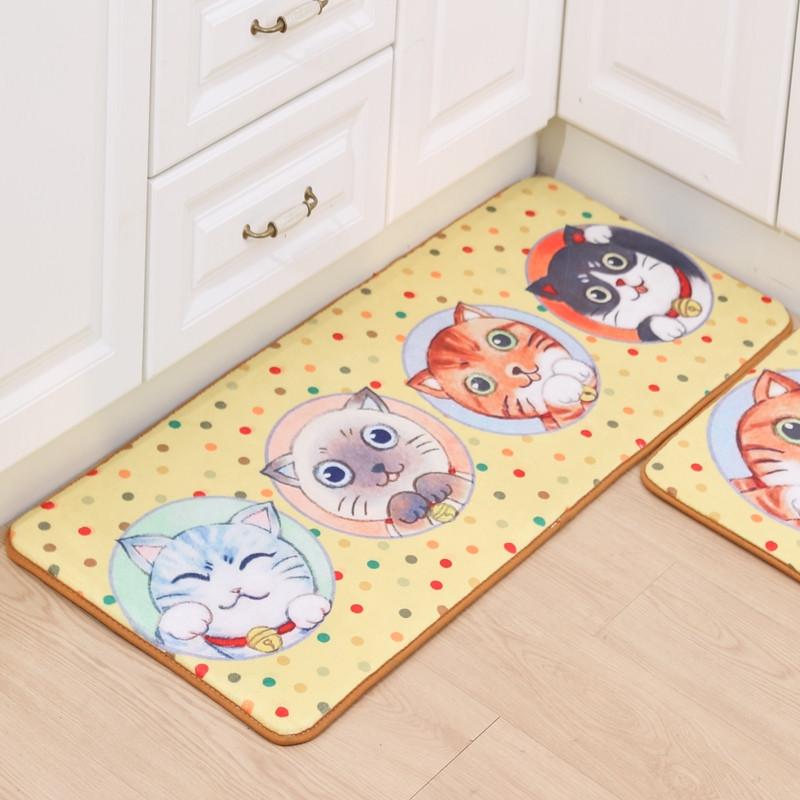 Funny Kitchen Entrance Door Mat Anti-slip Floor Rug